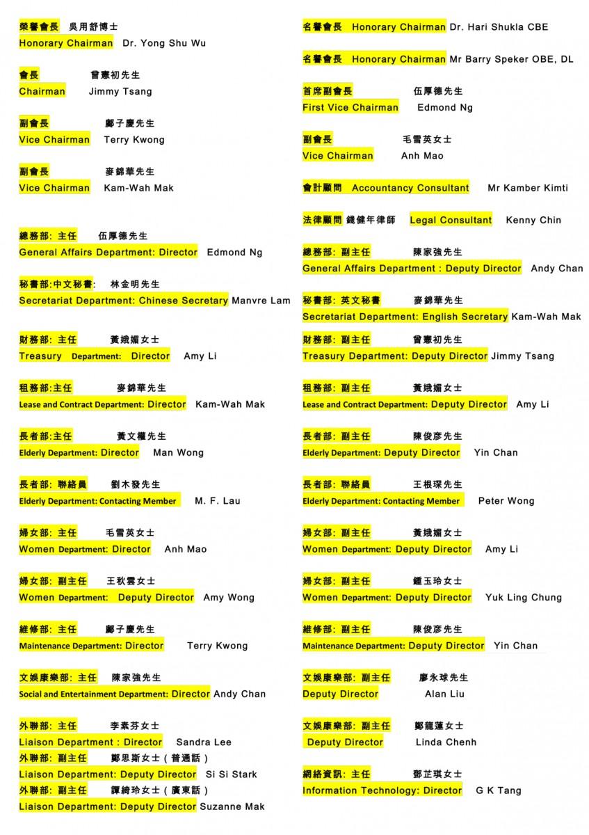 2016-2019-執委會職位名單